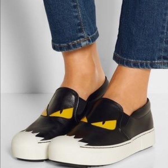 Fendi Shoes | Fendi Monster Slip Ons